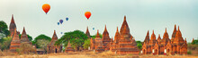 Balloons Over Temples In Bagan...