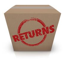 Returns Sending Back Box Packa...