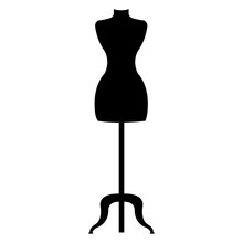 Boutique Mannequin Isolated Ic...