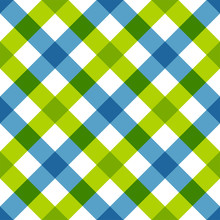 Blue Green Diagonal Checkered ...
