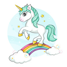 Little Pony. Cute Magical Unic...