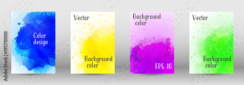 Fototapety, obrazy: Design cover with a picture of watercolor spray.