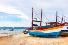Colorful Wooden Fishing Boat A...