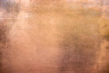Fototapeta Vintage bronze or copper plate, non-ferrous metal sheet as background