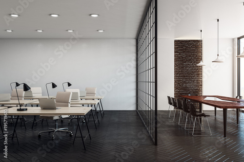 Fotografie, Obraz Stylish coworking office with copy space