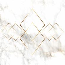 Gold Diamond Pattern On Marble Texture