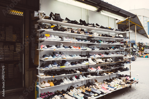 Shoes outlet Wallpaper Mural