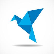 Origami Bird Paper Concept