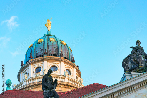 Photo  Dome of French Church on Gendarmenmarkt in Berlin