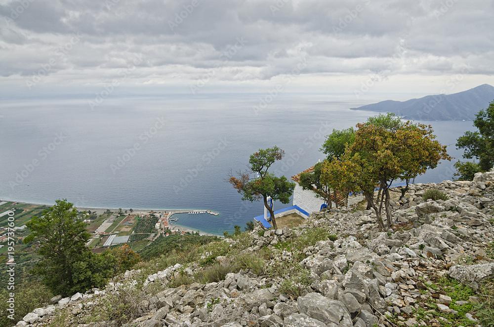 Küste von Griechenland Pelopones Leonidio Plaka / Der Panoramablick ...