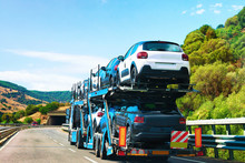 Car Transporter On Road In Nuo...