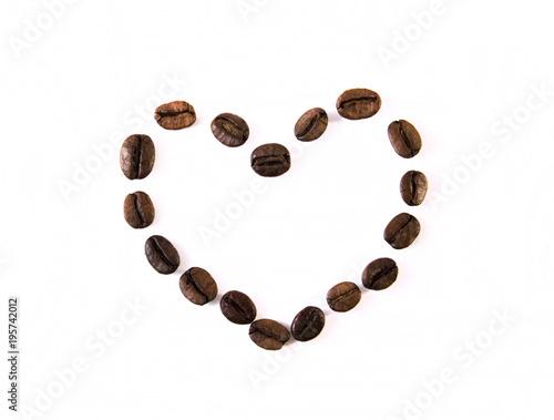 Papiers peints Café en grains coffee inscription
