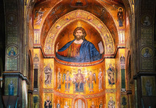 Interior Of Monreale Cathedral Sicily