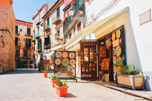 Ceramics Souvenir Shop In Stre...