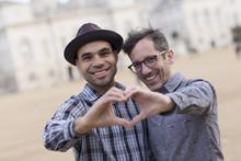 Homosexual Couple Making A Hea...