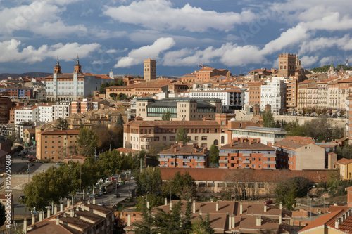 Teruel, Aragon, Spain. Aerial view of medieval city Teruel.