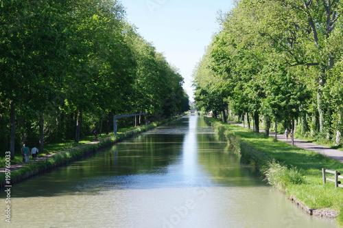 canal du Nivernais, France Slika na platnu
