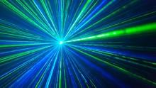 Green-blue Laser Light Effect