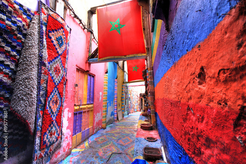 Tuinposter Marokko In the medina of Fes in Morocco