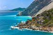 View of the Kastro Beach from the old Kastro town (castle), on Skiathos island in Greece