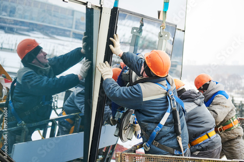 Fototapeta facade glass window installation obraz