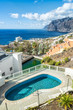 Los Gigantes- vertical view with tropical pool