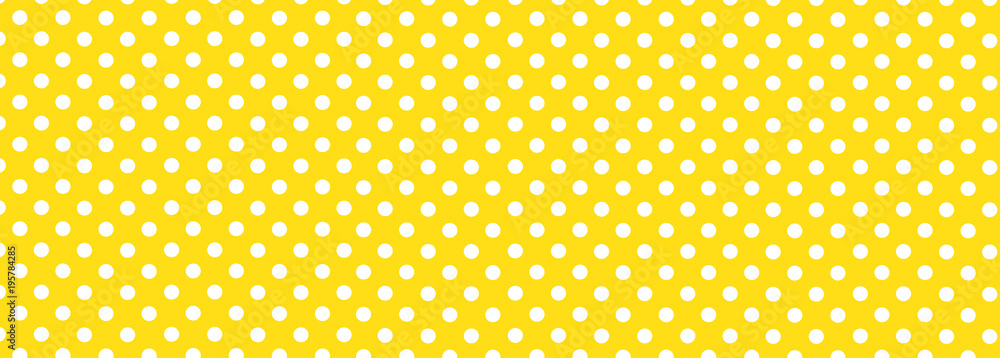 Fototapety, obrazy: Yellow Polka Dot Background