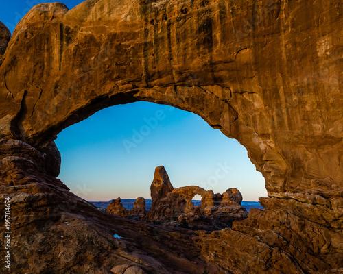 Keuken foto achterwand Diepbruine The Windows - Arches National Park