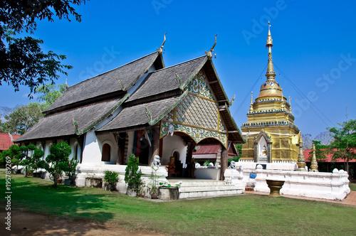 In de dag Bedehuis Wat Pho Doi is an ancient temple in Pong.