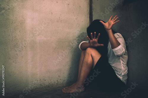 Tablou Canvas Stop Sexual abuse Concept, stop violence against Women