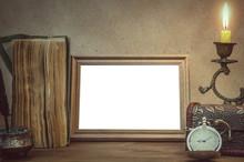 Empty Photo Frame With Copy Sp...