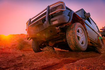 Through the desert in a 4x4 vehicle