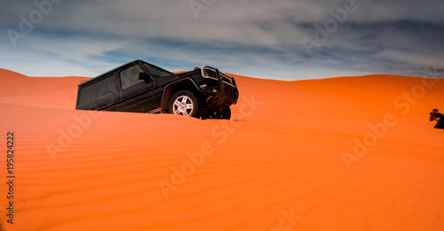 Poster Motorise 4x4 vehicles and dunes