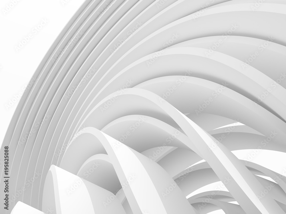 Abstract of white pattern space ,Perspective of future design architecture