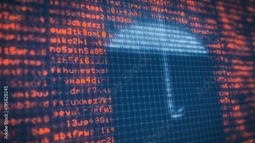 Fotografía  concept of computer security