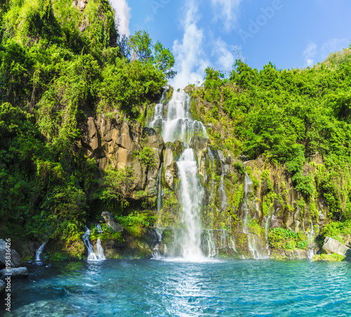The basins of the Aigrettes and Cormoran waterfalls, La Reunion, Wall mural