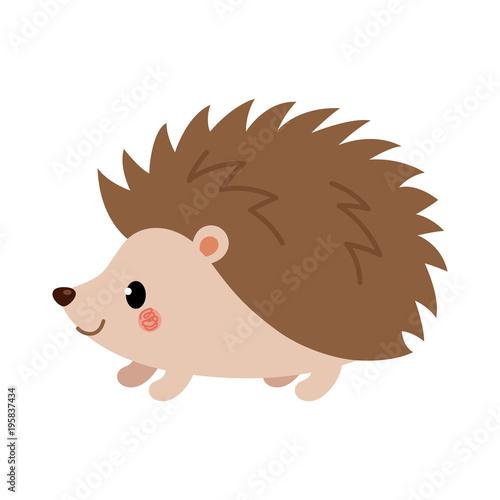 Cuadros en Lienzo Adorable hedgehog in modern flat style. Vector.