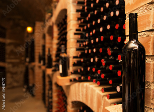 Fotografie, Obraz  basement, warehouse in which to store wine for serving on the table
