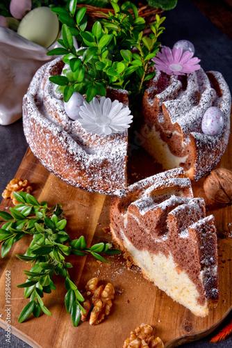 Plakat tradycyjny polski wielkanocny tort