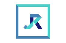 JR Square Ribbon Letter Logo