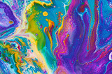 Fluid Art. Abstract colorful background, wallpaper, texture. Mixing  paints. Modern art. Marble texture