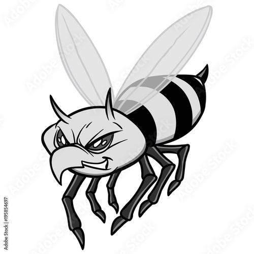 Yellow Jacket Illustration A Vector Cartoon Illustration Of A