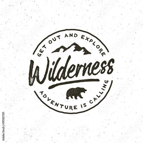 Obraz na płótnie vintage wilderness logo