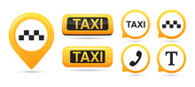 Taxi Service Vector Icons. Tax...