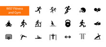 Physical Activity Icon Set