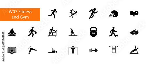 Fotografía Physical activity icon set