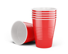 Red Disposable Cups - Plastic ...