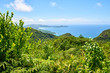 panoramic view on seychelles islands , sans souci road, Mahe, Sey