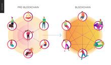 Blockchain Concept Vector Illu...