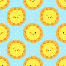 Cute Baby Pattern With Funny C...